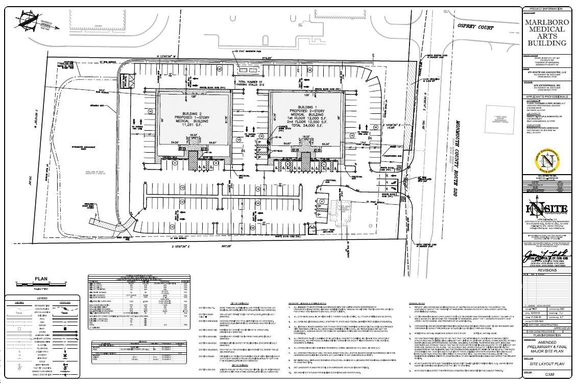 Building elevations floor plan marlboromed for Site floor plan